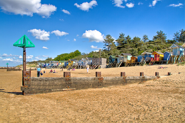 HDR of Beach Huts