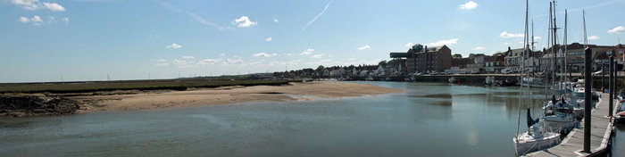 panorama view of wells-next-the-sea