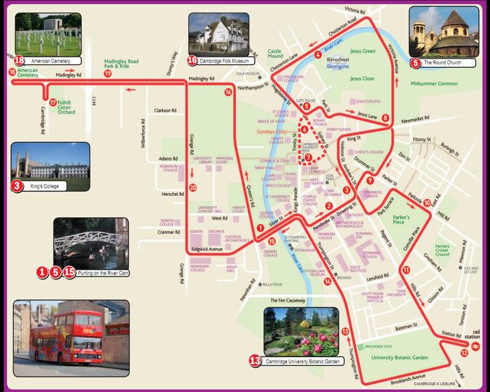 Locations in Cambridge (UK)