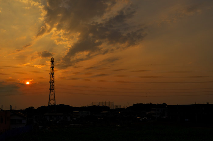 My first HDR - sunset photo