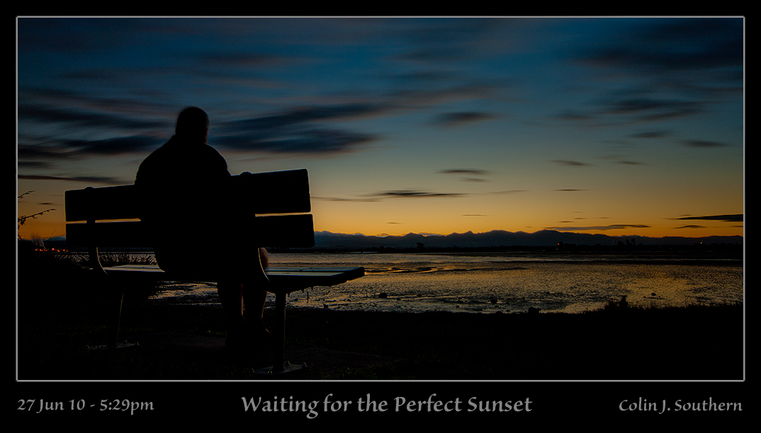 Photographer exposes himself waiting for the perfect sunset!
