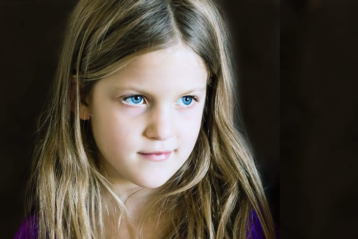 A 6 year-old that definitely has the model look down! :)