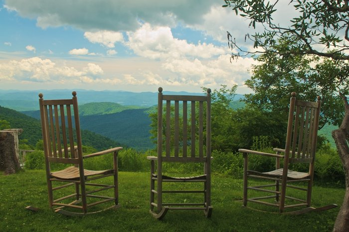 Quiet time on the Blue Ridge Parkway